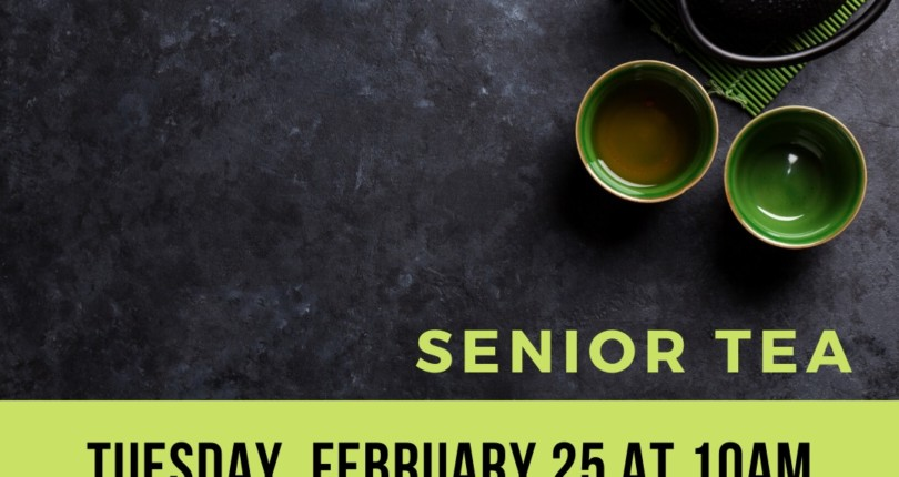 Senior Tea's are back!